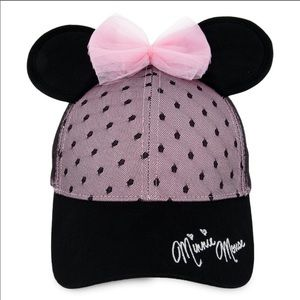 DISNEY Sweet Minnie Mouse Cap w/ Ears, Pink Bow